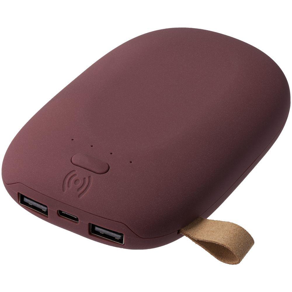 Stone Wireless Power Bank 9000 mAh, dark red