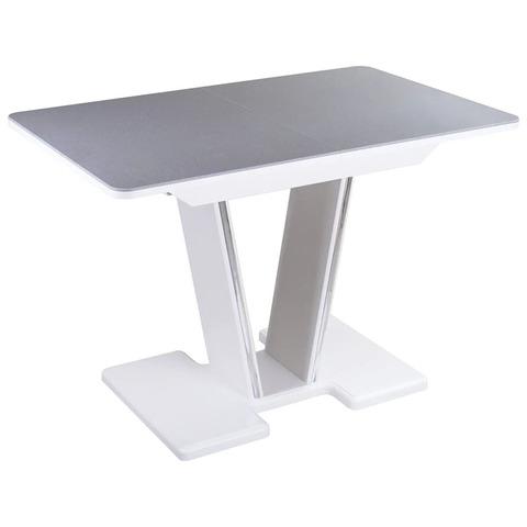 Стол кухонный Румба ПР-1 КМ 03-1 / Серый с белым / 120(157)х80 см