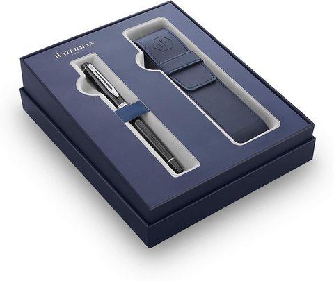 Подарочный набор Waterman Expert с перьевой ручкой и чехлом Black CT перо M123