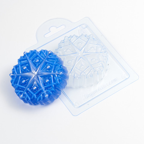 Снежинка Звездочка форма пластиковая