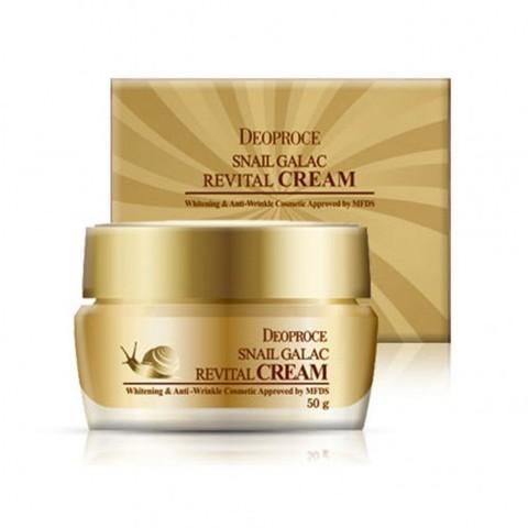 Deoproce Snail Galac-Tox Revital Cream антивозрастной крем для лица с экстрактом слизи улитки и Galactomyces