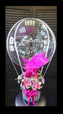 Цветы в коробочке и шар bubble #29294