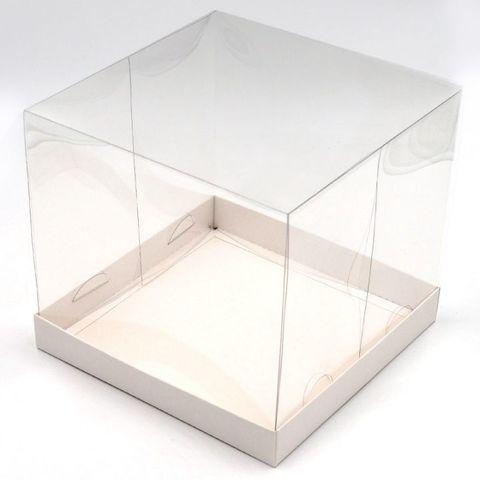 Коробка для пряничного домика белое дно 21х21х19 см