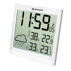 Метеостанция (настенные часы) Bresser TemeoTrend JC LCD, белая