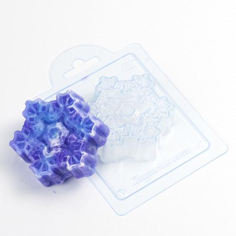 Снежинка Зимняя Сказка форма пластиковая