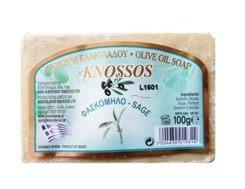 Натуральное оливковое мыло с шалфеем Knossos 100 гр