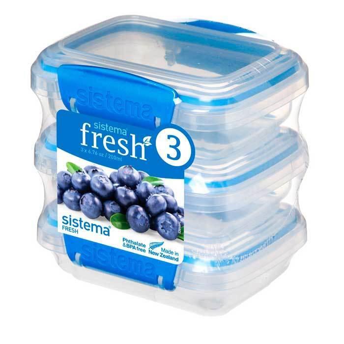 """Набор пищевых контейнеров Sistema """"Fresh"""" 200мл, 3шт."""