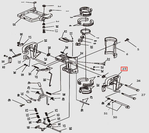 Кронштейн струбцины левый для лодочного мотора T9.8 Sea-PRO (11-25)