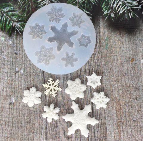 Молд «Больше Новогодние снежки»