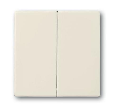 Клавиша двухклавишного выключателя/переключателя/кнопки. Цвет Слоновая кость. ABB (АББ). 1751-0-2744