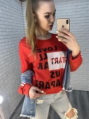 красная футболка оверсайз купить