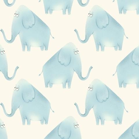 Голубые слоники