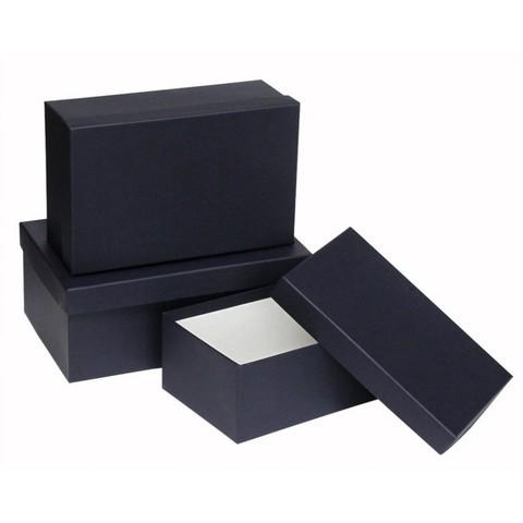 Подарочная коробка синий/черный