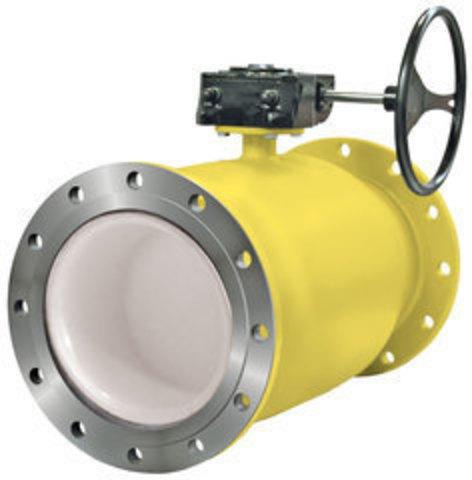 LD КШ.Ц.Ф.GAS.400.016.П/П.02 Ду400 полный проход с редуктором