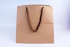 Сумка Крафт, Квадрат с коричневыми ручками, 40*40*40 см, 1 шт.