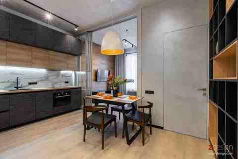 Кухня в современном индустриальном стиле