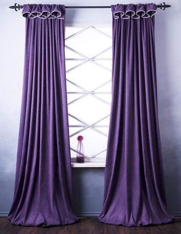 Комплект штор софт Стелла фиолетовый