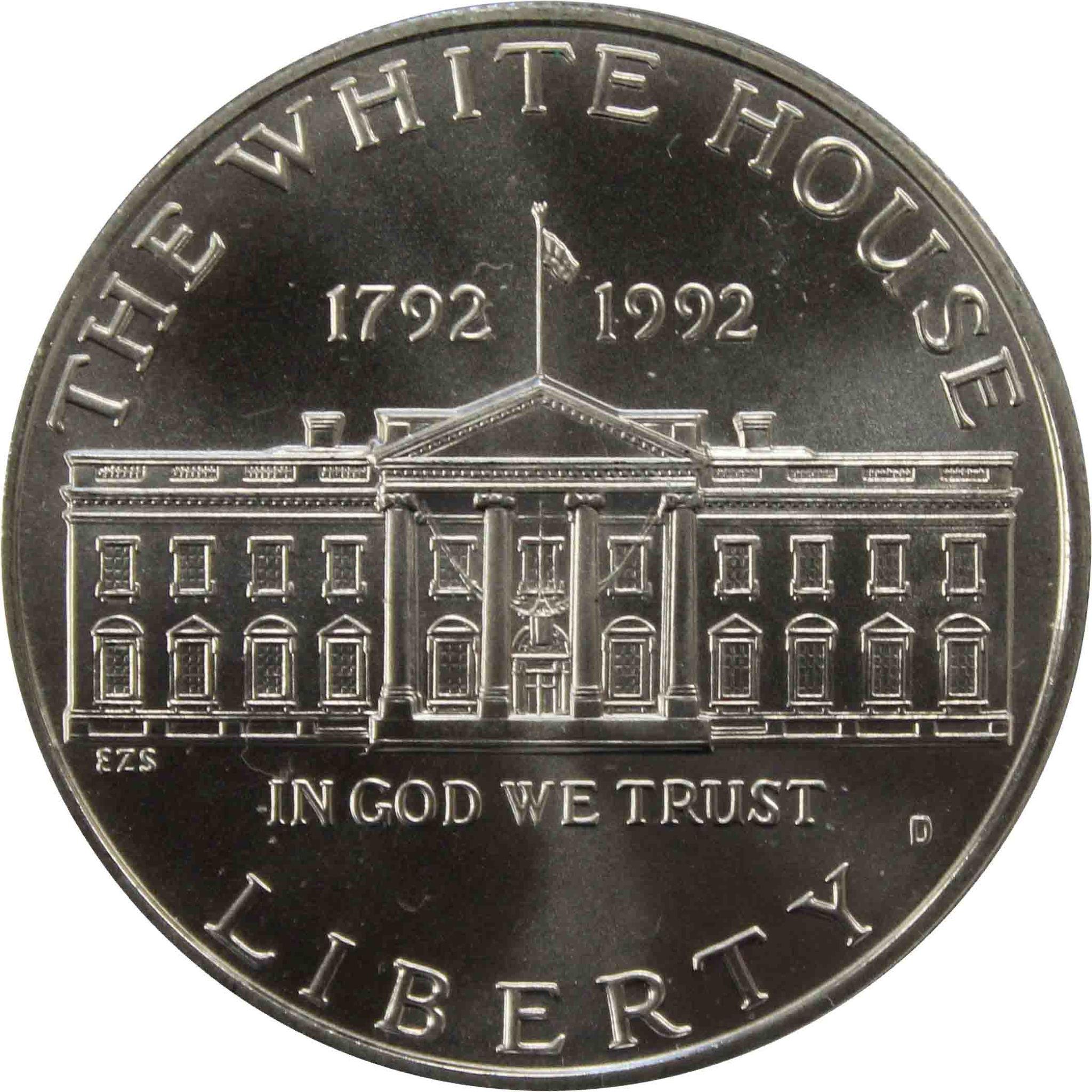 """1 доллар 1992 D """"200-летие Белого дома"""""""