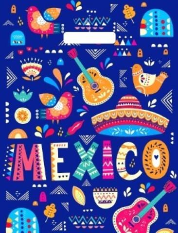 Пакет полиэтиленовый с вырубной ручкой 31х40 (60) Мексиканский карнавал