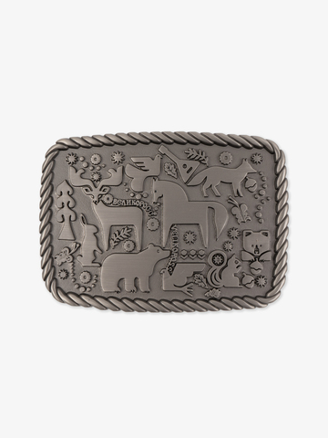 Forest fairytale buckle color steel