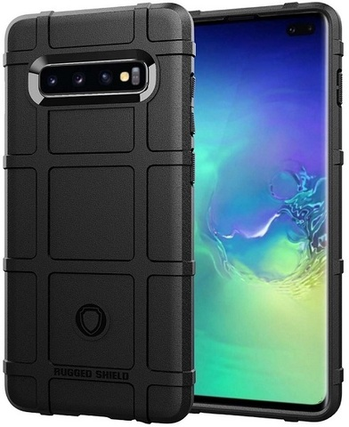 Чехол Samsung Galaxy S10 Plus цвет Black (черный), серия Armor, Caseport