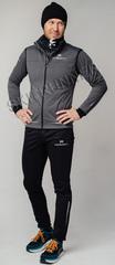Элитный утеплённый лыжный костюм Nordski Pro Graphite-Black мужской