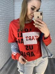 красная футболка оверсайз недорого