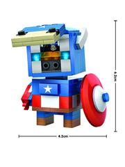 Конструктор LOZ mini Капитан Америка 142 детали NO. 1401 Captain America BrickHeadz