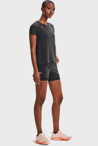 Женские черные шорты UA Iso-Chill Run 2N1 Short Under Armour