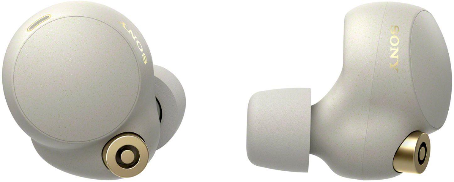 Беспроводные наушники Sony WF-1000XM4S серебристого цвета