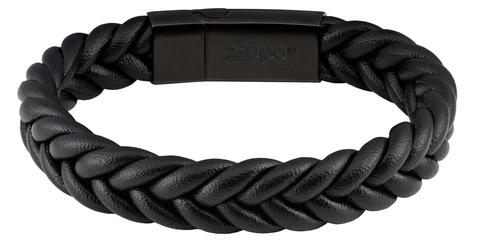 Мужской кожаный браслет Zippo 2006226