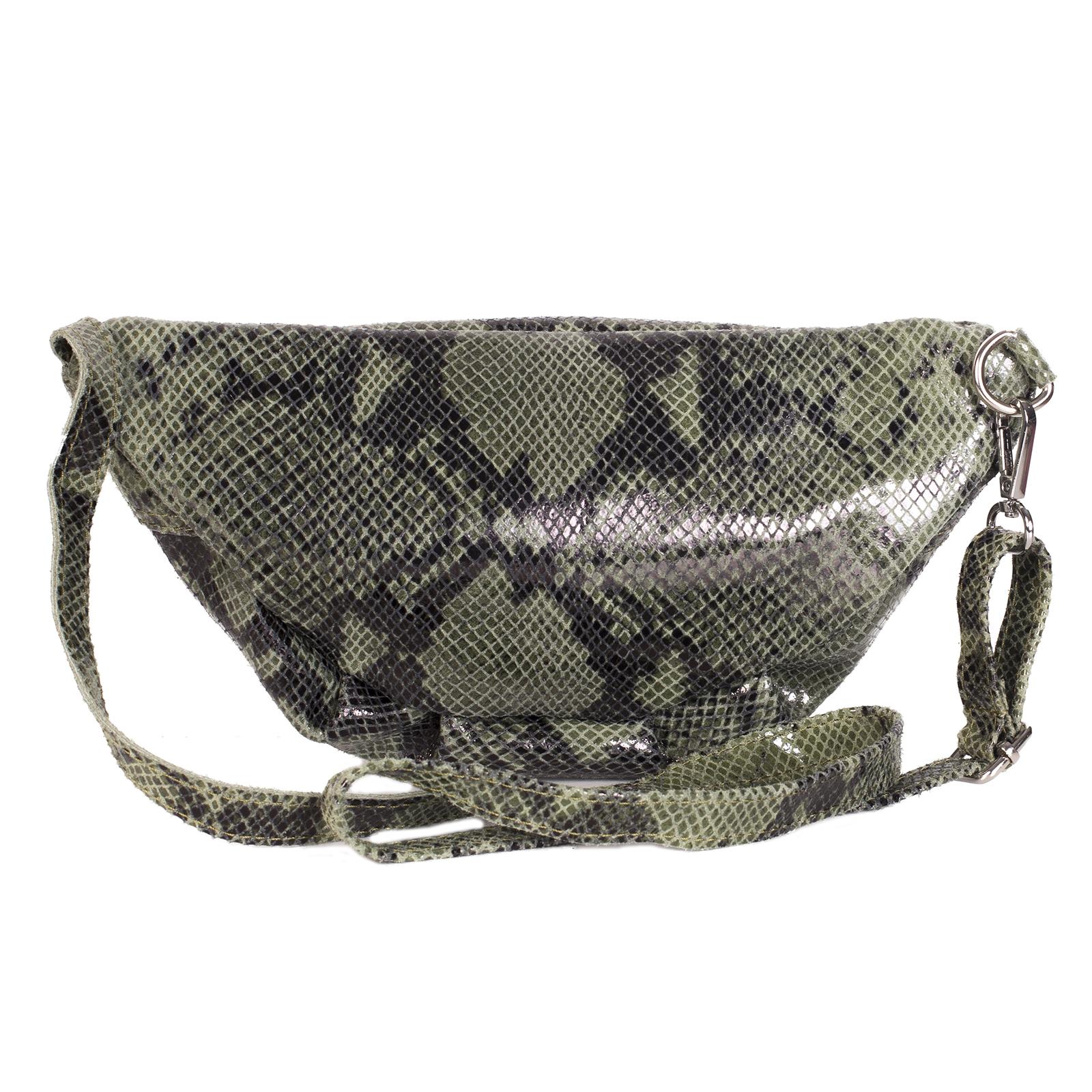 Fanny pack, UNO, Lauryn (зеленый питон)