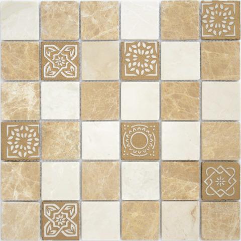 Мозаика LeeDo: Art Pietra Mix 1  матовая 30х30х0,8 см (чип 48х48х8 мм)