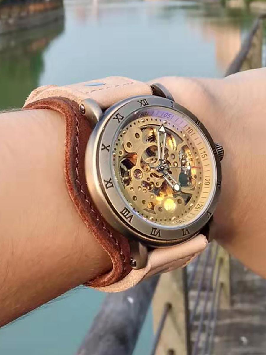 Часы скелетоны мужские механические Adventure YOURTIME