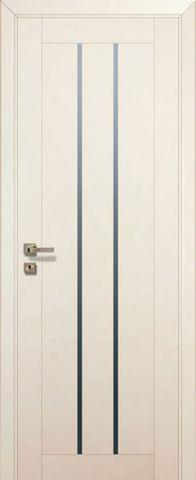 Дверь № 49 U (магнолия сатинат, остекленная экошпон), фабрика Profil Doors