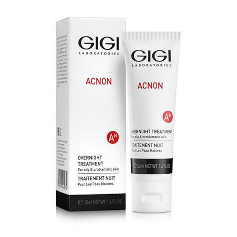 Крем ночной Overnight Treatment, Acnon, GiGi, 50 мл