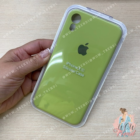 Чехол iPhone XR Silicone Slim Case /lime/