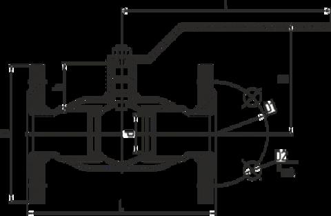 Конструкция LD КШ.Ц.Ф.032.040.П/П.02 Ду32 полный проход