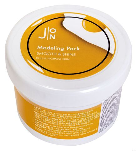 J:on Альгинатная маска гладкость и сияние Smooth & Shine Modeling Pack