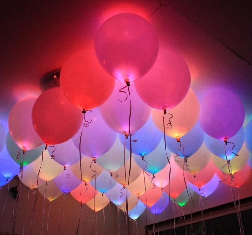Светящиеся шарики под потолок