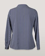 Блузка HAT рубашка карман елочка полоска