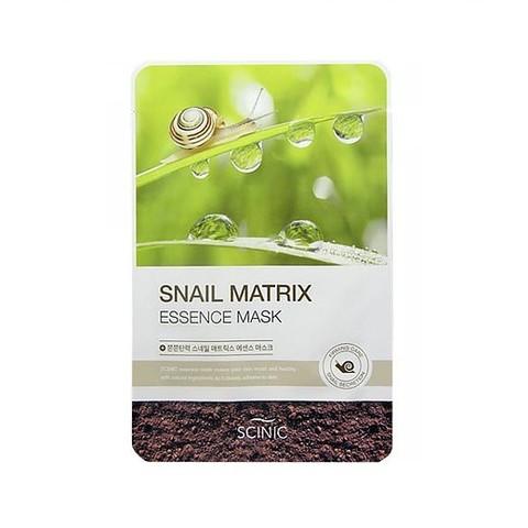 Scinic Snail Matrix Essence Mask тканевая маска с муцином улитки