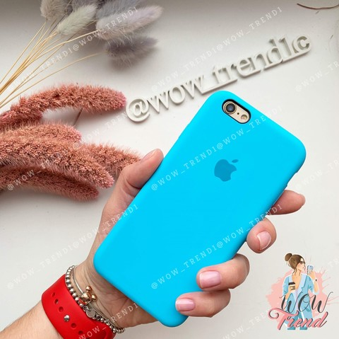 Чехол iPhone 6+/6s+ Silicone Case /blue/ ярко-голубой original quality