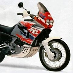 Набор наклеек Honda XRV 750V Africa Twin '96-1999 (пластик серебристый/белый/красный)