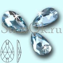 Стразы пришивные стеклянные Drope Light Blue, Капля Лайт Блю светло-голубой