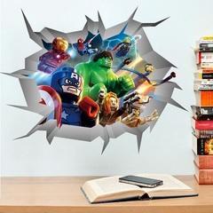 Лего Марвел Мстители 3D наклейка