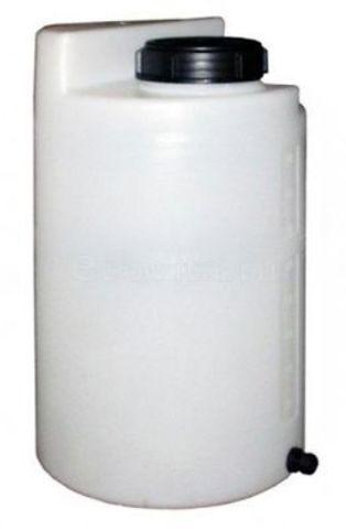 Дозировочный контейнер АНИОН 100л с крышкой и заглушкой (Белый), (470 х 790 х 150), арт.ДК100КЗ