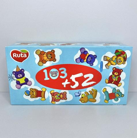 Бумажные салфетки Ruta в коробке (155 шт.)