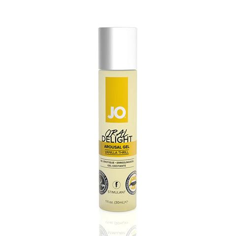 JO Oral Delight Vanilla Thrill Стимулирующий гель для оральных ласк с десенсибилизацией ванильный