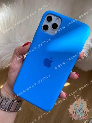 Чехол iPhone 11 Silicone Case /surf blue/ синяя волна original quality